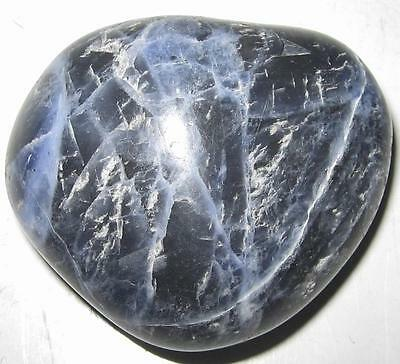 Awesome *sodalite* Crystal Carved Heart / 4Cmsx3.5Cms / A Grade