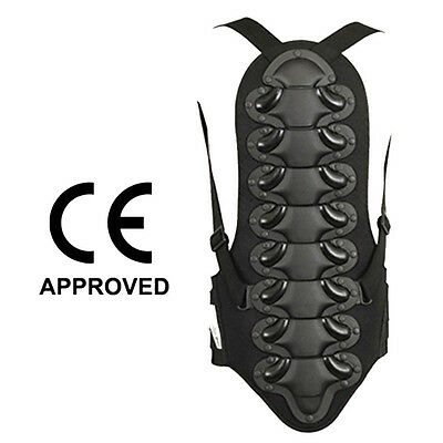 Motocross Back Protector Skating Snow Body Armour Motorcycle Spine Guard Black