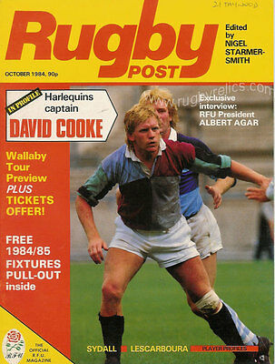 Rugby Post Magazine October 1984