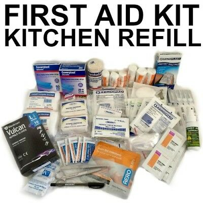 First Aid Kit REFILL KITCHEN Complies Workplace BLUE BANDAID WORK CODE