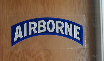 "US Army Decal - Sticker AIRBORNE ( Inside Of Glass Application ) 6 3/4"" X 2 3/4"""
