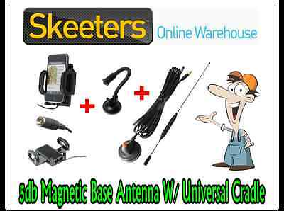 5db Magnetic Base Mobile Phone Antenna W/ Universal Patch Cradle- iPhone Android