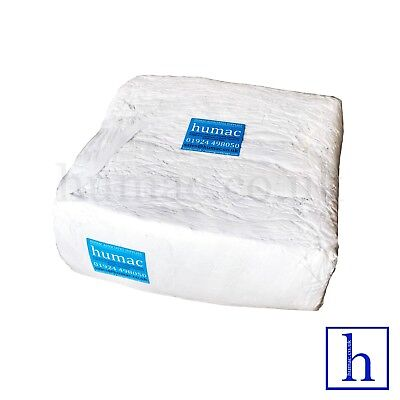 White Wiper Cotton 10kg Mechanic Industrial Cleaning Polishing Cloth Rags -HUMAC