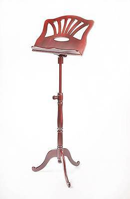 EMS Concerto Mahogany Solid Wooden Sheet Music Stand **NEW**
