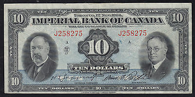 1934 Imperial Bank of Canada $10 Chartered Note