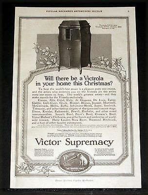 1917 Old Magazine Print Ad, Will There Be A Victrola In You Home At Christmas!
