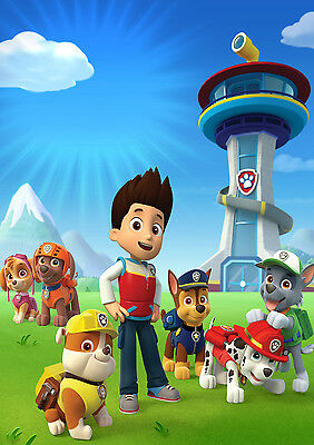 PAW PATROL HERO kids bedroom Giant Large Wall Art Poster PPL02 A0 A1,A2,A3,A4