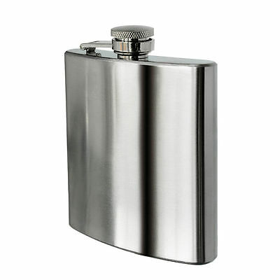 Set of 2, 3, 4, 8 Hip Flask 8oz Brushed Stainless Steel or Funnel Best man Gift
