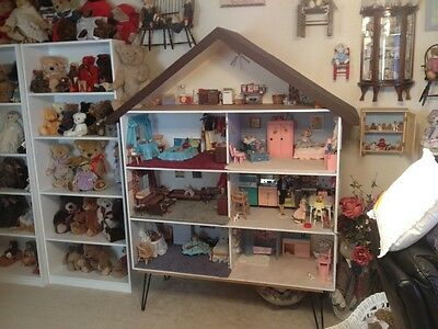 Antique Wood doll house furnished
