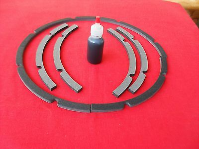 "10"" Pro Grade Speaker Chip Gasket 1 Pair, 1 oz Black Adhesive. Speaker parts"