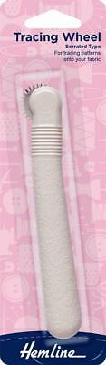 Hemline Tracing Wheel Serrated Type, Trace Patterns Onto Fabric, Scrolled Handle