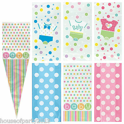 Baby Shower Party Gift Cello Bags great for favours Boy Girl Neutral Polka dot