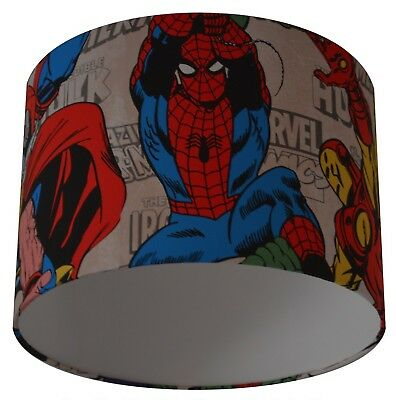 Marvel Comic Super Heroes Spider-man Handmade Wallpaper Lampshade