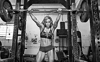 SPORT SEXY GIRL HOT WEIGHTLIFTING GYM FITNESS SSW01 wall Art Poster A1,A2,A3,A4