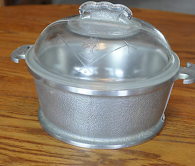 Vintage 1940's Hammered Aluminum Guardian Service 2 Quart Cooker with Lid 8""