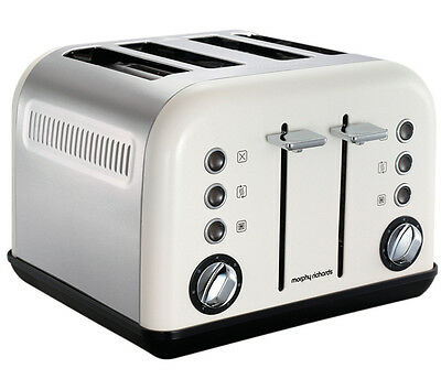 Morphy Richards Accents 4 Slice Wide Slot Toaster In White Variable Width 242005