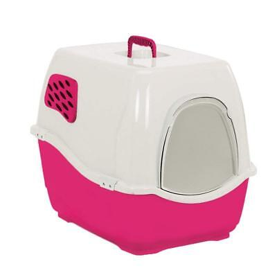 Fuschia Heritage Sumo Cat Toilet  Loo Hooded Door Litter Tray Cats Pan & Filter