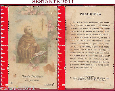 2332 Santino Holy Card S. San Sancte Francisce Francesco 2131 Mediolani