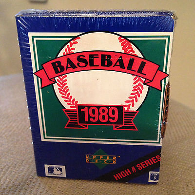 1989 Upper Deck Baseball High # Series Hobby Box Set Sealed Many Rc's Mint