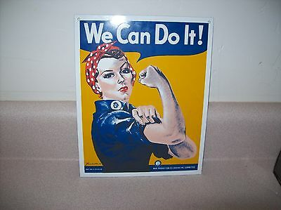 "Rosie the Riveter ""We Can Do It""  Metal Sign"