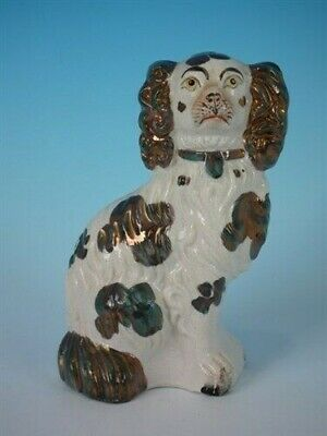 Staffordshire No.6 copper lustre spaniel