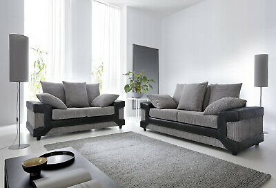 Dino 2+3 Seater Sofas in Black&Grey or Brown&Beige