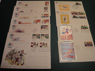 LOT OF 13 OLYMPICS FIRST DAY COVERS 1979 - 1991