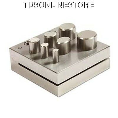 Disc Cutter 4x6mm to 16x18mm With Seven Punches For Oval Shapes