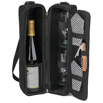 Picnic at Ascot Sunset Wine Carrier for 2 (133-BLK)