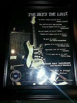 Stevie Ray Vaughan The Sky Is Crying Platinum Promo Poster Ad Framed!