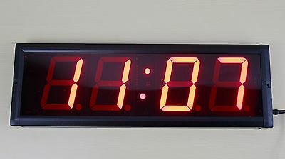 Crossfit LED 4-Digits Interval Timer Wall Clock w/Remote Training Garage WOD 4""