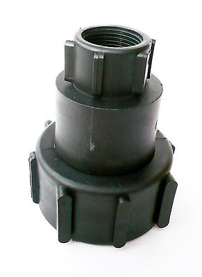 "IBC ADAPTER (2"" - S60 - 60mm) to 360 degree SWIVELING 3/4"" BSP Femal Thread"