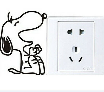 FD1253 Cute Laughing Snoopys Dog Light Funny Wall Decal Vinyl Stickers DIY ~1pc~