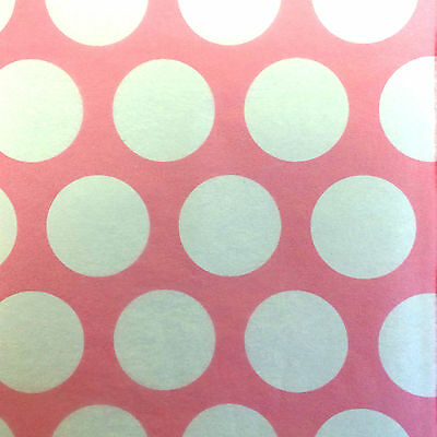 Pink Polka Dot Luxury Patterned Tissue 500 x 750mm Large Sheets Wrapping