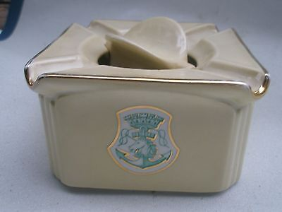 Extremely Rare ASHTRAY. Cie STEAM NAVIGATION ,FRENCH, Océan LINER SS
