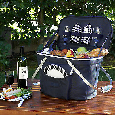 Picnic at Ascot Collapsible Insulated Picnic Basket for 2 (408-B)