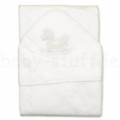 Soft Touch Embroidered Hooded Towel Baby Bath Towel Swimming Towel Rocking Horse