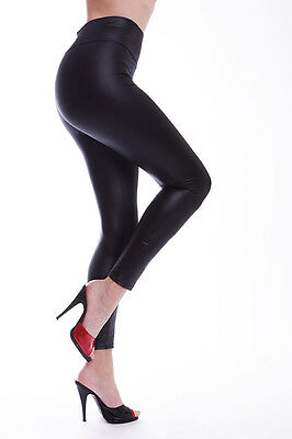 Lycra Leggings in Leder Look / Lycra Leggings in Leather Look