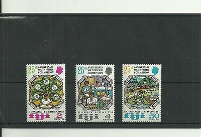 Fiji Sg454-456 25Th Anniv Of South Pacific Commission Set Mnh
