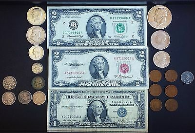 US Coin Currency Numismatic Collectors Starter Lot 90% Silver Certificate