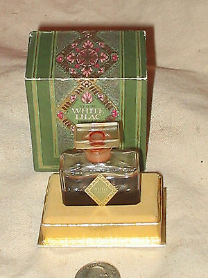 VINTAGE DOROTHY GRAY 1/2 OZ WHITE LILAC PERFUME W/ ART DECO  BOX