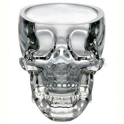 73ml Crystal Skull Head Vodka Whiskey Shot Drinking Ware Wine Glass Cup Bar Home