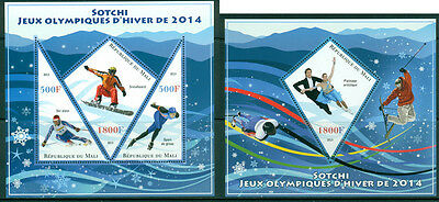 Mali - Sochi Winter Olympic Games 2014 MNH set - 3val sheet + s/s