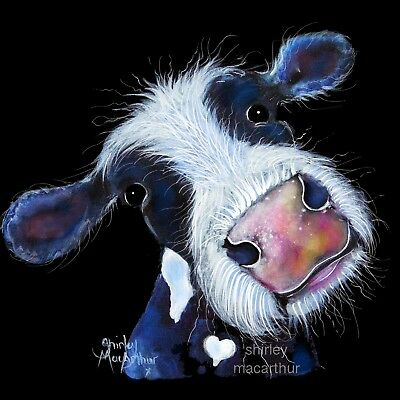 NOSEY COW PRINTS of Original Painting BERTHA BEETROOT by SHIRLEY MACARTHUR