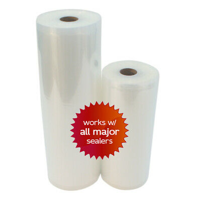 2 Rolls 1 ea 8x50 &11x50 4 mil Embossed Vacuum Sealer Bags - Great Food Saver!