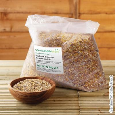 5kg Robin & Songbird No Mess Seed Mix / Garden Bird Food / Wild Birds Feed