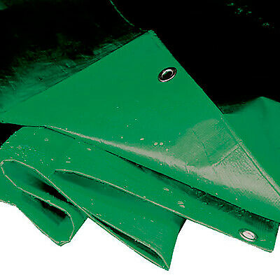 Sealey Heavy Duty Garage/Rally/Work Tarpaulin - 5.49 x 7.32mtr/Green - TARP1824G