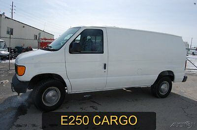 Ford : E-Series Van Commercial 2005 commercial used 4.6 l v 8 automatic white cargo work van e 250 clean 1 owner