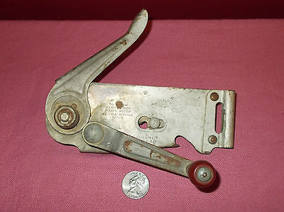 Vintage 1947 RED WOOD HANDLE SWING A WAY CAN OPENER