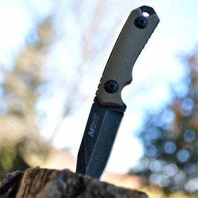 M-TECH Tactical Survival Neck FIXED BLADE KNIFE G10 Full Tang w/ KYDEX SHEATH